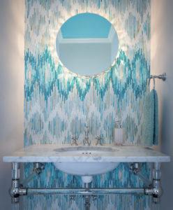 мозаика +в интерьере ванной