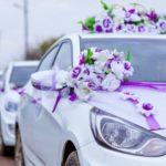 сделать украшение на машину на свадьбу