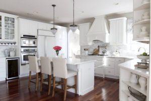 кухни белого цвета фото +в интерьере