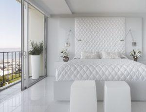 белый цвет +в интерьере спальни
