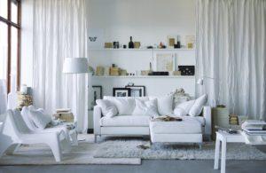 серо белый цвет +в интерьере
