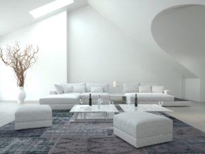 интерьер +в серо белых цветах